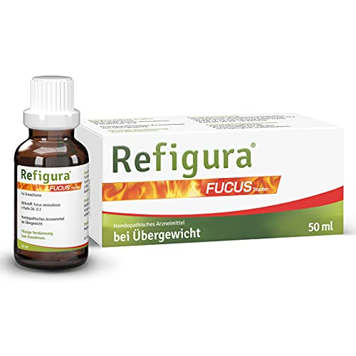 Refigura Fucus Tropfen: Abnehmtropfen mit Fucus vesiculosus, Fettverbrenner, homöopathisch & 100% natürlich, 50 ml