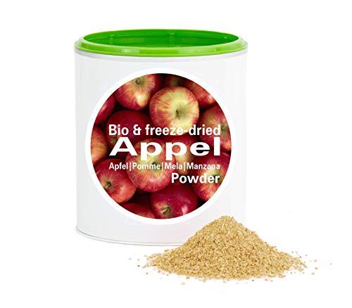 Pomme en poudre - Lyophilisées|biologique|végan|crue|pure fruits|sans additives|riches en vitamins|Good Nutritions 120g
