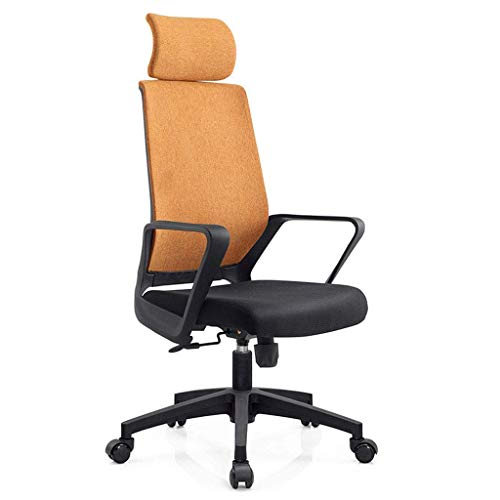 N/Z Daily Equipment Swivel Executive Office Chair Pu Leather Computer Desk Chair Office Furniture Smooth Wheels Easy to Carry Multicolor B