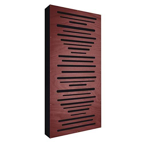 AbFuser WOOD 100x50x11,5cm by Addictive Sound | Hybride Akustikelemente verbessert die Raumakustik und Schalldämmung | Akustikpaneele – Mahogany