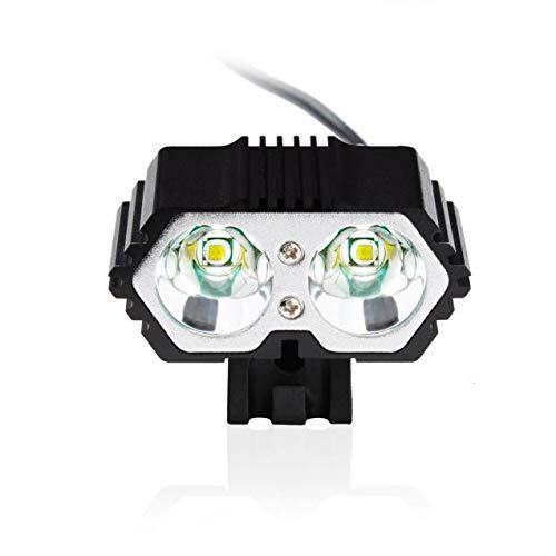 kashyk Fahrradlicht LED Set,superhell 6000LM mit 4 Licht Modi Fahrradbeleuchtung, mit 6400mAh Batterie Pack,IPX7 Wasserdicht Fahrradlicht Licht fur Fahrrad,Mountainbike