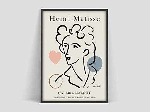 RuiChuangKeJi Kunstdruck auf Leinwand, ohne Rahmen, Henri Matisse, 50 x 70 cm