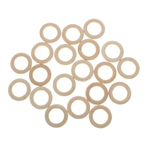 Liadance 10 Pcs Natural Wooden Rings Circle for Diy Projects Pendant Connectors Jewelry Making 5.5cm