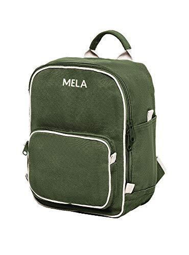 MELAWEAR MELA II mini Rucksack - Nachhaltig mit Fairtrade Cotton, GOTS und Grüner Knopf Zertifizierung, Farben MELA II:olivgrün