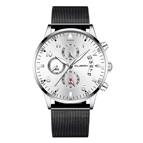 Hanneng Damen Analog Quarz Uhr mit massives Edelstahl Armband - Damen Analog Quarz Uhr mit Edelstahl Armband (ONE Size,E)