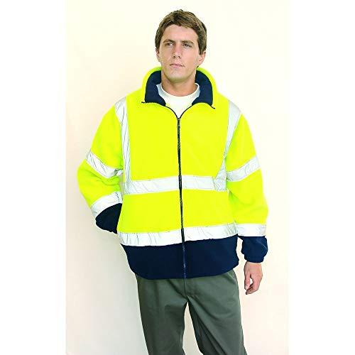 Veste polaire haute visibilité jaune fluo/marine EN 471 3/7