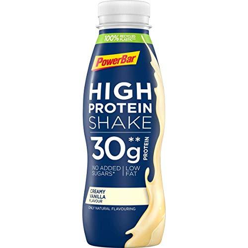 PowerBar High Protein Shake Creamy Vanilla, 6 x 330 ml, High Protein Low Fat Protein Drink, 1.980 kg