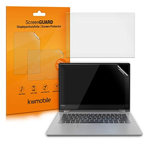 kwmobile Set of 2 Screen Protectors Compatible with Lenovo Yoga 530 (14') - Matte Anti-Glare Anti-Fingerprint Monitor Display Film