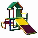 Nemo Mein erstes Mas Spielhaus mit Kleinkindrutsche für Kinderzimmer oder Spielzimmer genauso geeignet wie im Garten Multicolor