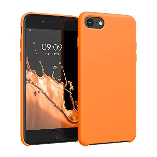 kwmobile Hülle kompatibel mit Apple iPhone 7/8 / SE (2020) - Hülle Silikon gummiert - Handyhülle - Handy Hülle in Cosmic Orange