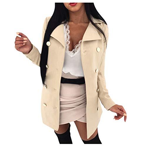 Minikimi Damesmantel Elegant Warm Revers Trenchcoat dubbele rijen lichte jas Cardigan Outwear lang oversize winterjas goedkoop outdoorjack