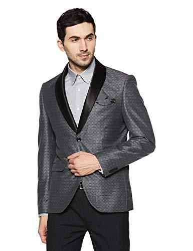 blackberrys Men's Shawl Collar Slim Fit Blazer (NL-QUEST2# Black_Black_38)