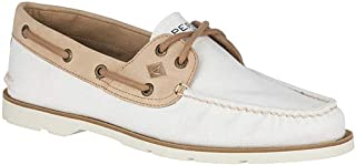 Sperry Mens STS18767 Leeward 2-Eye Off-White Size: 12
