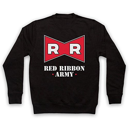 My Icon Art & Clothing Dragon Z Red Ribbon Army Erwachsenen Sweatshirt, Schwarz, Medium
