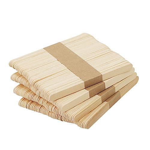 Chuya Wood Craft Sticks Garden Label Wooden Popsicle Ice Cream Sticks for Hand DIY Craft (4.5 inch 200 Pack)