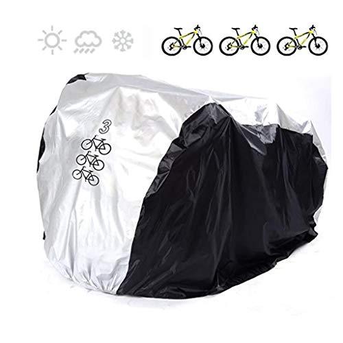 M-YN Couvre vélo Universel 190T Nylon imperméable for l'extérieur intérieur Stockage 3 vélos Heavy Duty vélos Couverture Anti-poussière Pluie Protection UV for Mountain Route
