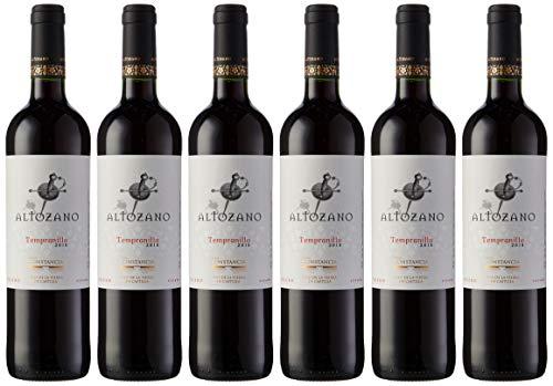 Altozano Tempranillo V.T Castilla Vino Tinto - 6 Botellas de 750 ml - Total: 4500 ml
