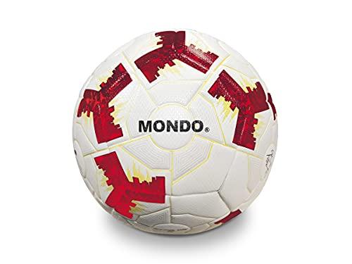 Mondo Sport - Balón de fútbol Evolution 5 - Talla 5 Professional - 450 gr - Blanco Rojo - 13325