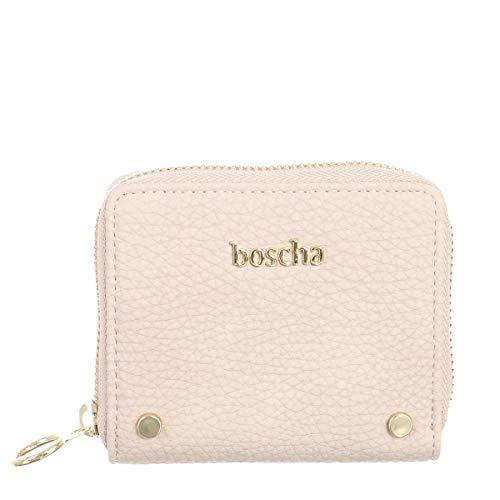 Boscha Damen Mini- Geldbörse Geldbeutel Portemonnaie Klein Rose