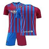 GDYJP Camiseta de fútbol Personalizada 21-22 Camiseta de Barcelona Versión Correcta Messi No. 10 Uniforme de fútbol Traje (Color : Has no Change, Tamaño : 22)