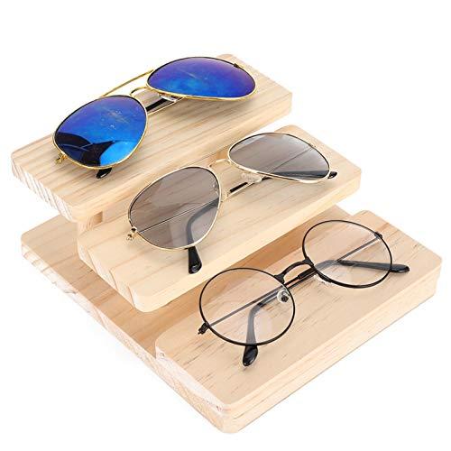 SALUTUYA Easy Assemble Glasses Display Stand Praktische Brillenpräsentationsplatte für den Brillenladen