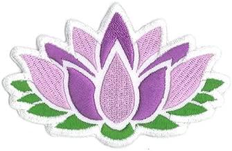 Lotus Flower Embroidered Iron On Patch - Original Artwork by Matt Stewart, 2.25