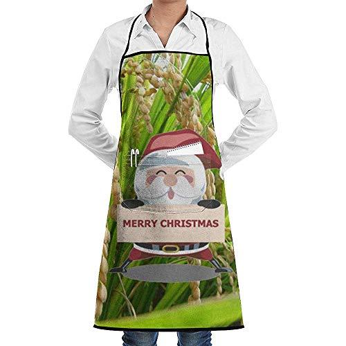 Beibao-shop Organische goldene Reis-Landschaftsweihnachtsfraktions-Unisexküche, die Garten ApronSewing Tasche wasserdichte Chef-Schutzbleche kocht