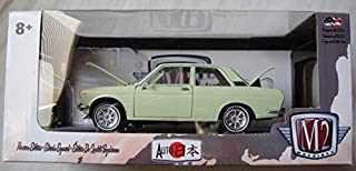 M2 MACHINES 1:24 SCALE GREEN 1970 DATSUN 510 JAPAN SERIES DIE-CAST, S26 17-23
