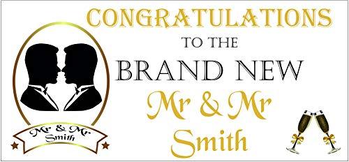 2 banners personalizados para bodas con el mismo sexo Mr. & Mr 02