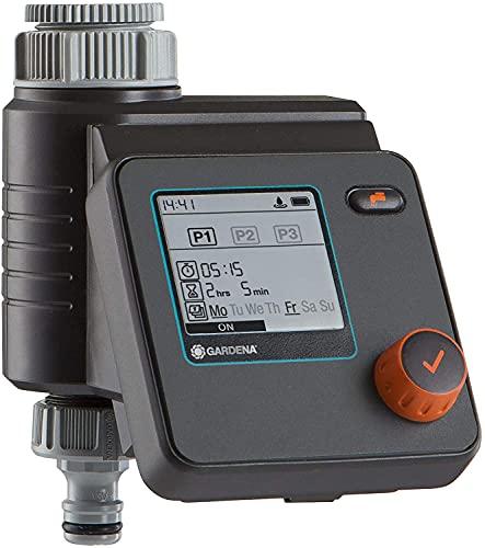 Gardena SelectControl - Programador de riego para grifos con rosca de 26,5 mm (G 3/4) y 33,3 mm (G1)