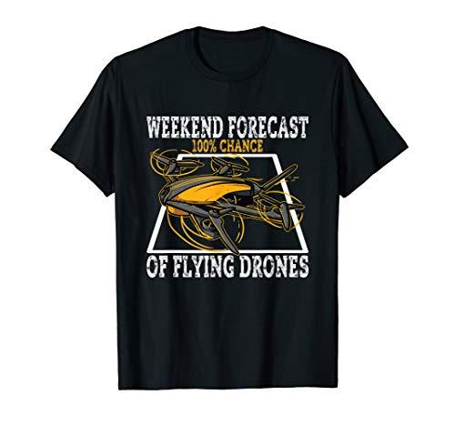 Drohnen Rennen / Drone Race & Quadrocopter Racer Design T-Shirt