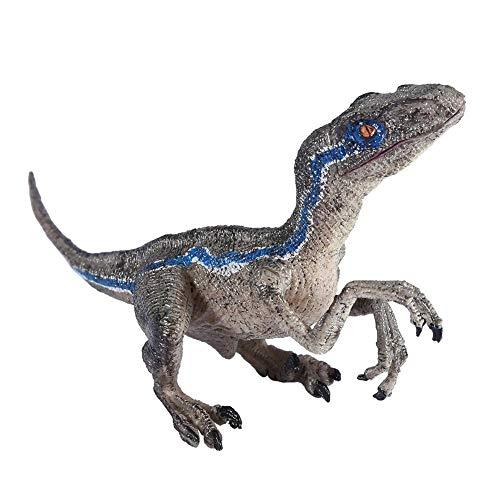 Juguetes de dinosaurios, Velociraptor Modelo Simulación de plástico Juguete de dinosaurios para la oficina en casa Decoración de escritorio Regalo para niños, 8.7 x 3.9 x 2.4 pulgadas