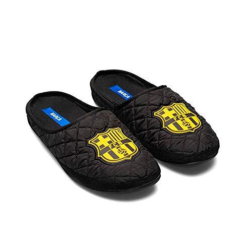 Zapatillas Oficiales FC Barcelona Amatista Negro Zapatillas de Estar por casa Hombre Invierno Otoño - 34.5 EU