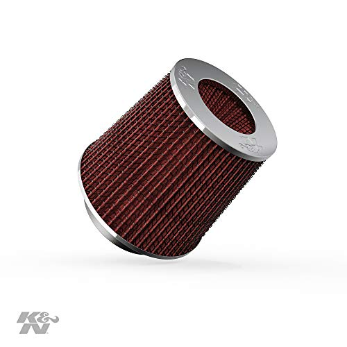 K&N Universal Clamp-On Engine Air Filter: Washable: Round Tapered; 3 in/3.5 in/4 in (102 mm/89...