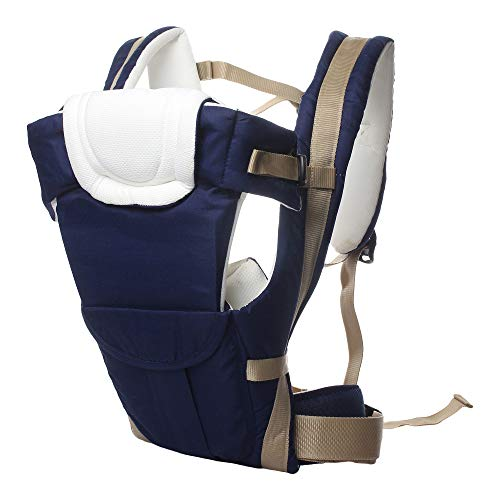 Eranqo® 4-in-1 Adjustable Baby Carrier with Safety Belt and Comfortable Head Support Front and Back Carrier Baby/Kids Sling Bag
