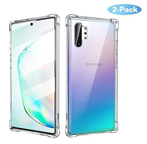 MoKo Compatible con Galaxy Note 10 Plus/Galaxy Note 10+ 5G Funda, [2 PZS] Cubierta con Transparente Dura Carcasa de TPU para Samsung Galaxy Note 10 Plus / 10+ 5G 6.8 Inch 2019 - Claro + Claro