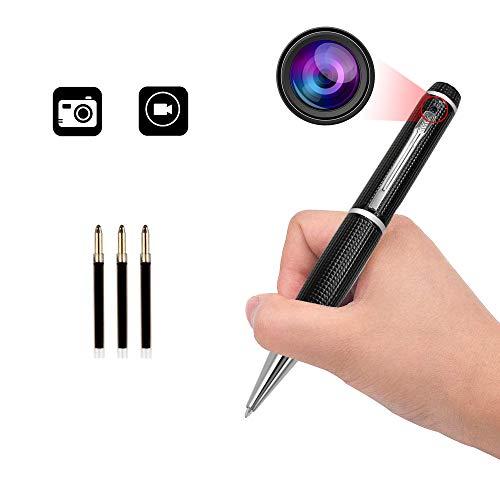 Spionagekameras Stift versteckte Mini-Kamera Spionagestift Videorecorder Tragbarer Überwachungskamera Spy Cam Office/Meeting Secret Record