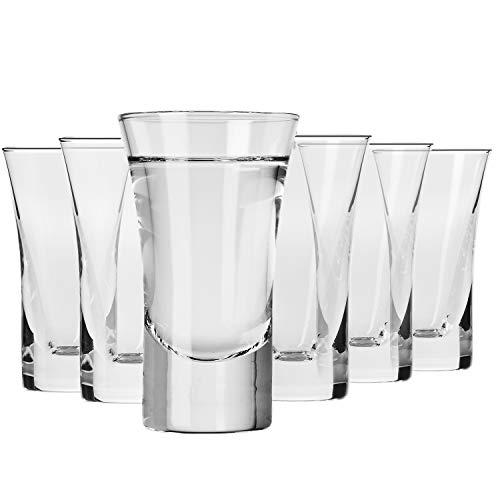 Krosno Copas para Vodka | Conjunto 6 Piezas | 45 ml |...