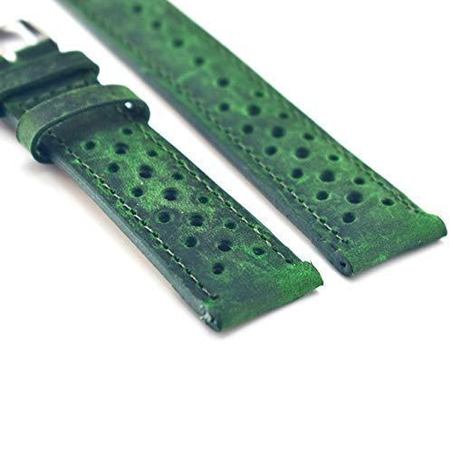 Correas de Reloj para Hombres, Correas de Reloj Correa de Reloj Verde Vintage Correas de muñeca de Cuero Genuino 18 mm 20 mm 22 mm 24 mm Accesorios Hombres Mujeres Correas de Reloj para Hombres y