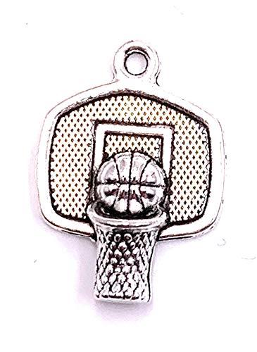 H-Customs Basketball Korb Ball Charm Anhänger Kettenanhänger Bastelbedarf Schmuckzubehör