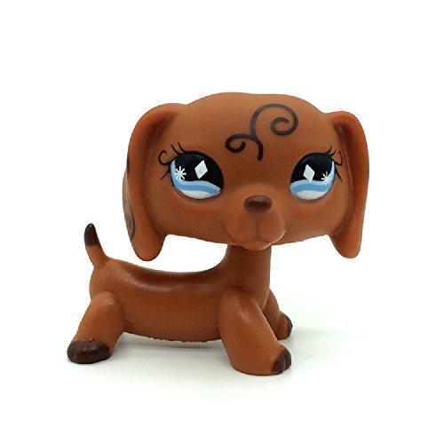 ZAD #640 Rare Littlest Pet Shop Brown Dachshund Dog Puppy Diamond Eyes Animal LPS