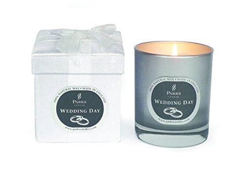 Parks (London) Ltd Wedding Day Feierkerze: Hochzeitstag, Glas, 100% natürliches Wachs, Bunt, 30 cl