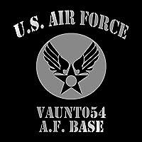 U.S AIR FORCE カッティングステッカー シルバー 銀