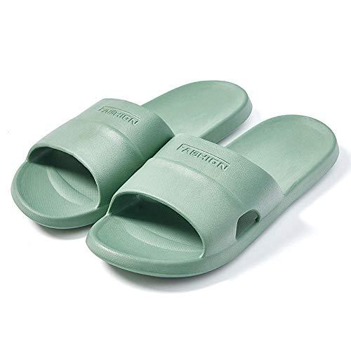 HUSHUI Suela De Espuma Suave Zapatos De Piscina,Sandalias de Ducha de baño, casa Pareja Zapatillas-Green_37-38,Zapatillas de Piscina Antideslizantes Unisex