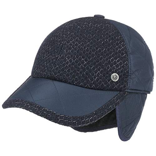 Bugatti Style-Mix Cap mit Ohrenklappen Basecap Baseballcap Wintercap Ohrenschutz (59 cm - dunkelblau)