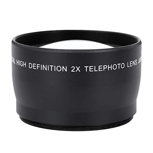 Cuifati Lente telefoto de cámara de 58 mm, Lente de cámaras HD de Aumento 2X, Buena Lente Alternativa, adopta Vidrio óptico de Primera Calidad