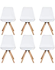 Sim Luxury Slaapkamer Stoel Eetkamer Gestoffeerde Stoelen met Massief Beuken Materiaal Hoge Rugstoel voor Woonkamer Slaapkamer Thuis Keuken Meubels