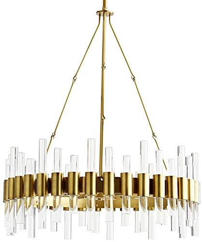 Lámpara de techo – Lámpara de techo de metal dorado para salón, dormitorio, restaurante, lámpara de techo, 60 x 60 x 28 cm