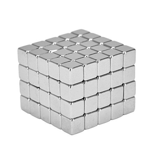 eLander 100 Stück Magnete Würfel für Glasmagnetplatten, Magnettafeln, Whiteboards, Kühlschränke 5mm