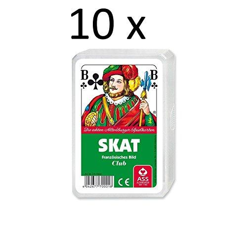 Ass Altenburger Spielkarten Skat Französisches Bild Blatt im Plastiketui 10er Pack
